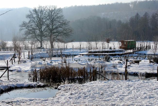 la ferme du Bec Hellouin sous la glace