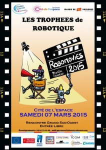affiche trophee de la robotique 2015