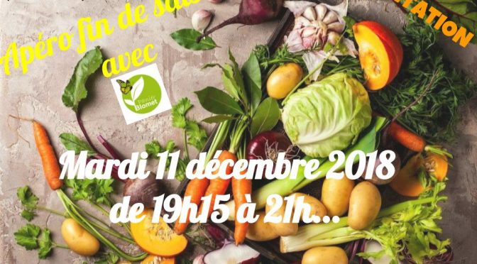 <strong>SAVE THE DATE</strong> <br />apéro mardi 11 décembre 2018